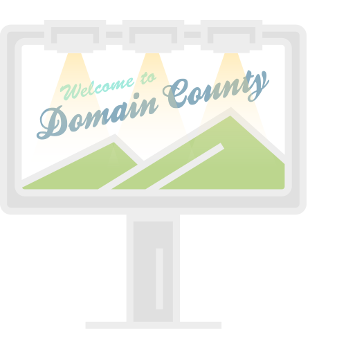 Advertise domain names with banners.